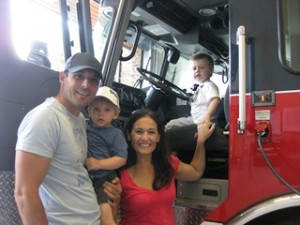 Christy family at the Fire Station!